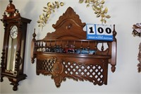 Antique Wall Display Shelf  (Contents Not Included