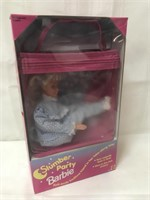 Slumber Party Barbie in carrying case