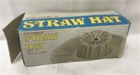 Vintage foldable straw hat
