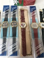 Christmas watches, most new and in boxes