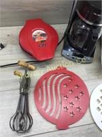 COFFEE MAKER/ WAFFLE IRON/ MINI DONUT MAKER