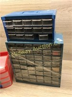 3 VARIOUS DRAWER ORGANIZERS AND CONTENTS