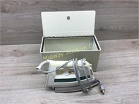 HEAVY METAL BOX WITH STEAM IRON