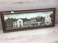 FRAMED PRINT OF NEIGHBORHOOD HOMES
