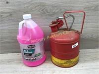 METAL GAS CAN/ GAL OF RV ANTIFREEZE