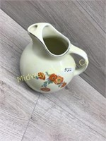 HALL PITCHER WITH POPPY DESIGN