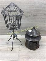 METAL DECOREATOR BIRD CAGE/ AND LANTERN
