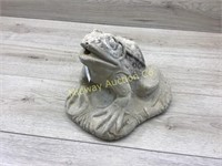 CONCRETE FROG WITH WATER HOSE ATTACHMENT