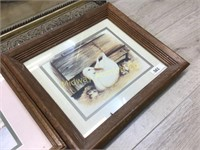 3 FRAMED PITURES/ HUNTI G DOPG/ GEESE