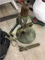 OLD DINNER BELL WITH CLAPPER AND YOKE