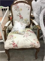 PAIR OF FLORAL PRINT OCCASSIONAL CHAIRS