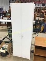 2 DOOR WHITE PANTRY CABINET