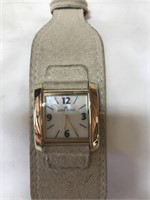 Anne Klein watch with leather band featuring