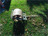 Handcrafted Pulley Wheel Lawn Roller