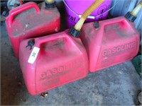 (3) Gas Plastic Cans