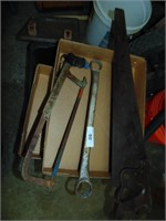 """Hand Saw, Hack Saw & 1 1/2"""" - 1 7/16"""" Wrench"""