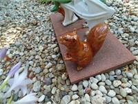 (3) Squirrel Yard Decor