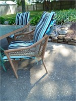 Rectangle Patio Table, Chairs, Umbrella & Stand