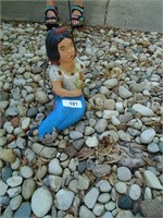 Snow White & (2) Dwarves Concrete Yard Decor