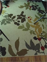 Floral Area Rug w/ Matching Entry Rug