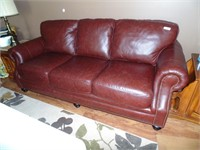 Brown Leather Look Couch - Nice!