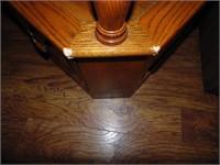 Oak Glass Top End Table