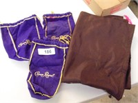 (3) Crown Royal Bags + Other