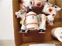 Cow S&P Shakers, Creamer & Ox S&P Shaker