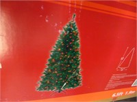 6.5' Pre Lit Aster Pine Artificial Holiday Tree