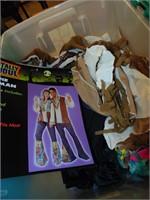 Tote, Milk Crate & Tote w/Halloween Costumes