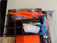 Party Supplies - Napkins, Straws, Utensil Caddy