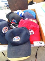 Assorted Caps - Miller Light, Pacers, Colts
