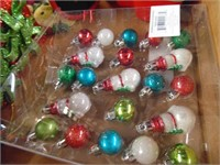 Miniature Christmas Tree Ornaments, Snow Globes