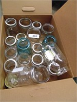 Assorted Canning Jars - Green # 7 & # 15