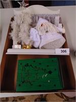 Christmas Display & Batt Op Candle w/Holder
