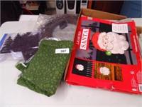 Christmas Wreath, Material, Light Up Santa Face