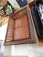 Assorted Flatware, Bamboo Basket, Broiler Pan