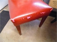 Drop Side Table & (2) Padded Chairs