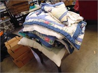 Tied Quilt, Bedding & Pillow