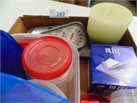 Candle, Storage Containers, Flashlight