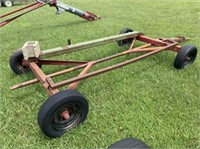 Header trailer, pin hitch, tires poor 185/60-14