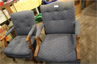 2 ARM CHAIRS (HIS & HERS )