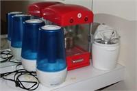 Lot of 2 Humidifiers, Popcorn Machine, Ice Cream