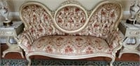 Beautiful Victorian Style Floral Couch