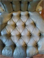 Pair of Victorian style upholstered chairs