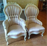 Stunning Victorian style his and her chairs