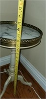 Beautiful Wooden Base Round Marble Top Plant Stand