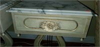 Pair of Victorian Style Marble Top Side Tables