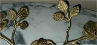 Beautiful Brass Rose Candle Holder Decor
