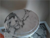 Victorian style small marble top circle table